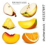 slices of fresh fruits. fully... | Shutterstock .eps vector #451537897