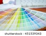 closeup large palette colormap