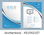 vector design curve for cover... | Shutterstock .eps vector #451542157