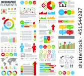 set of flat infographic... | Shutterstock .eps vector #451544287