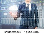double expoure of professional... | Shutterstock . vector #451566883