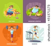 obesity and health concept... | Shutterstock .eps vector #451571173