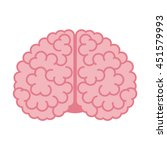 human brain isolated on white... | Shutterstock .eps vector #451579993