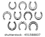 lucky horseshoes icons with... | Shutterstock .eps vector #451588837