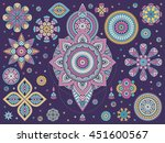 mandala  vector mandala  floral ... | Shutterstock .eps vector #451600567