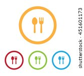 colorful fork and spoon or... | Shutterstock .eps vector #451601173