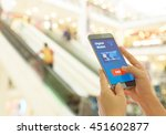 a digital wallet to pay for... | Shutterstock . vector #451602877