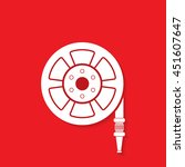 fire hose reel icon   vector | Shutterstock .eps vector #451607647