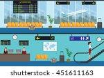 airport passenger terminal and... | Shutterstock .eps vector #451611163