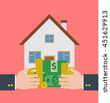mortgage loan concept... | Shutterstock .eps vector #451629913
