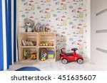 small room with colorful... | Shutterstock . vector #451635607