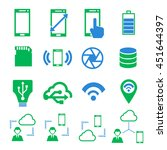 phone specification icon set | Shutterstock .eps vector #451644397