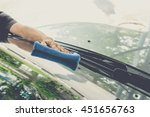 cleaning the car  | Shutterstock . vector #451656763