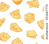 cheese pattern including... | Shutterstock .eps vector #451667773
