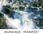 victoria falls waterfall on... | Shutterstock . vector #451669237