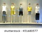 showcase model in store window   Shutterstock . vector #451680577