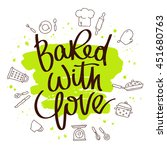 quote baked with love. the... | Shutterstock .eps vector #451680763