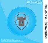 web line icon. shield. | Shutterstock .eps vector #451704403