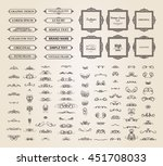 vintage set exclusive borders... | Shutterstock .eps vector #451708033