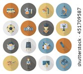 school and education icon set.... | Shutterstock .eps vector #451709587