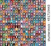 large set of  avatars 4 | Shutterstock .eps vector #451715443