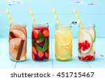 detox fruit infused flavored... | Shutterstock . vector #451715467