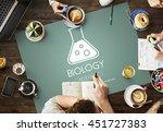 scientific biochemistry... | Shutterstock . vector #451727383