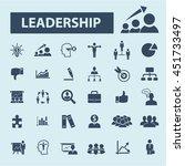 leader team icons   Shutterstock .eps vector #451733497