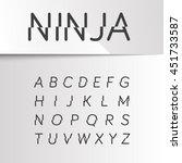 ninja divided font  vector | Shutterstock .eps vector #451733587