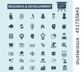 research development icons | Shutterstock .eps vector #451735843