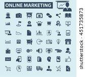 online marketing icons   Shutterstock .eps vector #451735873