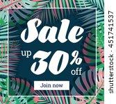 summer sale. web banner or... | Shutterstock .eps vector #451741537