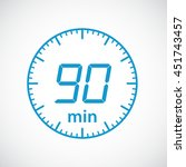 set of timers  90 minutes... | Shutterstock .eps vector #451743457