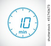 set of timers  10 minutes... | Shutterstock .eps vector #451743673