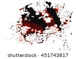 conceptual image with blood on... | Shutterstock . vector #451743817