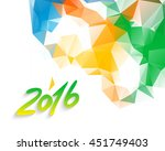 mosaic faceted triangle texture ... | Shutterstock .eps vector #451749403