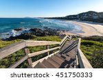 clear blue sky morning sunrise... | Shutterstock . vector #451750333
