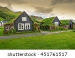 traditional icelandic houses... | Shutterstock . vector #451761517