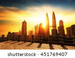 silhouette of kuala lumpur...   Shutterstock . vector #451769407