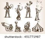 retro circus performance set... | Shutterstock .eps vector #451771987
