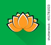 beautiful lotus flower. indian... | Shutterstock . vector #451781023