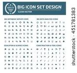 big icon set database server... | Shutterstock .eps vector #451781383