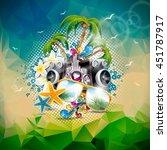 vector summer holiday... | Shutterstock .eps vector #451787917