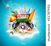 vector summer time holiday... | Shutterstock .eps vector #451787953
