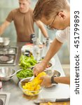 people making food in home and... | Shutterstock . vector #451799893