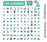 learning icons | Shutterstock .eps vector #451800463