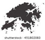 vector map hongkong country on... | Shutterstock .eps vector #451802083