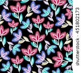 flower pattern | Shutterstock .eps vector #451802173