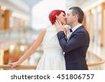newlyweds fooling around | Shutterstock . vector #451806757