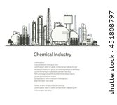 industrial chemical plant... | Shutterstock .eps vector #451808797